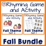 Rhyming Game and Activity Fall Bundle