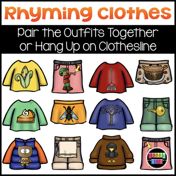 Fall Rhyming Clothes Literacy Activity