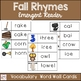 Fall Rhyming Emergent Reader