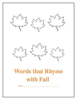 Fall Rhyming Leaves