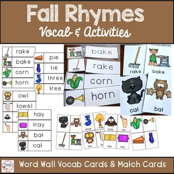 Fall Rhyming Word Activities