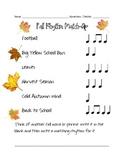 Fall Rhythm Match-Up