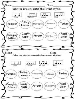 Fall Rhythm Word Sort