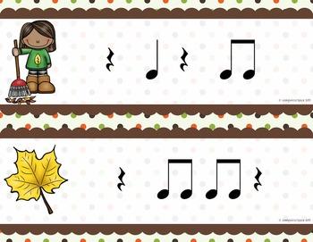 Fall Rhythm Write the Room {Ta Rest}