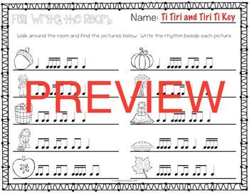 Fall Rhythm Write the Room {Ti-Tiri Tiri-Ti}