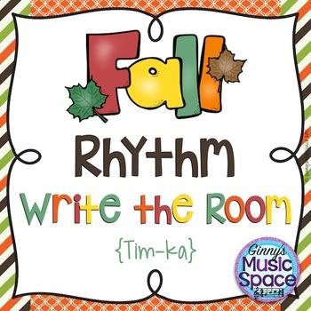 Fall Rhythm Write the Room {Tim-ka}