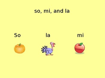 Fall Rhythms So, Mi, La