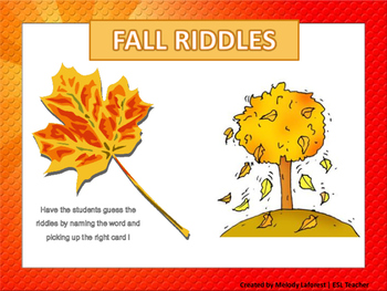 Fall Riddles Card Game