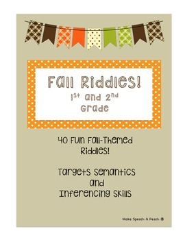 Fall Riddles for 1st and 2nd Grades