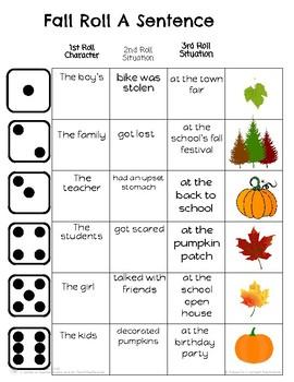 Fall Roll A Sentence!
