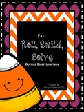 Fall Roll, Build, Solve (Two-Digit Addition)