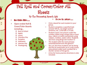 Fall Roll & Cover/Color Boards