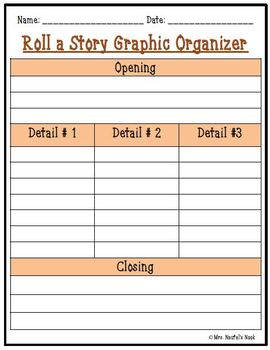 Fall Roll a Story - Prompts, Graphic Organizers, Word Lists and Rubric