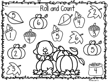 Fall Roll and Count/ Roll and Add
