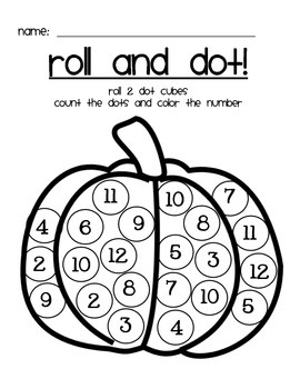 Fall Roll and Dot - Math Activity