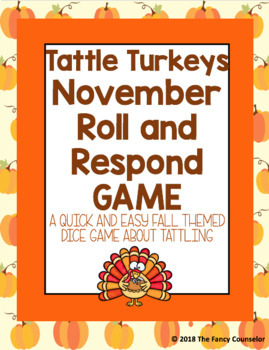 Fall Roll and Respond Game Bundle Thankfulness, Drug Awareness, Tattling