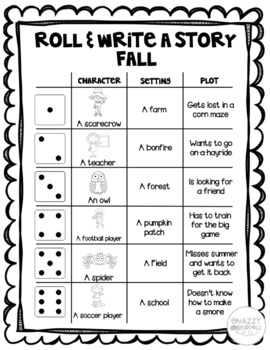 Fall Roll and Write a Story