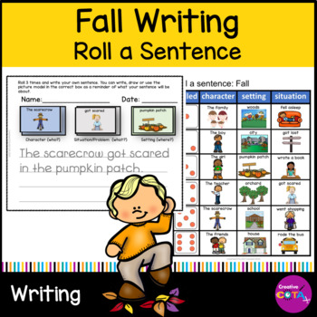 Fall Roll and Write a sentence or Story