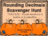 Fall - Rounding Decimal Scavenger Hunt (TEKS 5.2C)