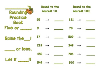 Fall Rounding Practice Trifold