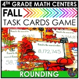 Fall Rounding Task Cards Game