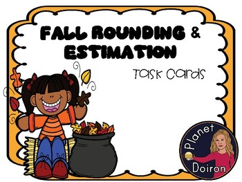 Fall Rounding and Estimation Task Card Math NO PREP