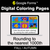 Fall: Rounding to the nearest 1000th - Digital Coloring Pages | Google Forms