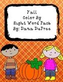Fall SIght Word Coloring Fun