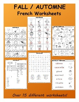 Fall SPANISH Mega Pack (games, worksheets, workbooks and SmartNotebook)