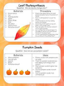 Fall STEM Activities