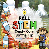 Candy Corn Water Bottle Flipping Fall Autumn STEM Activity