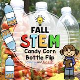 Candy Corn Water Bottle Flipping Fall STEM Activity + Digi