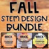 Fall STEM Challenge BUNDLE Three Building Bricks Activities