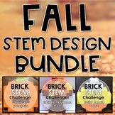 Fall STEM Challenge BUNDLE Three Building Bricks Activities