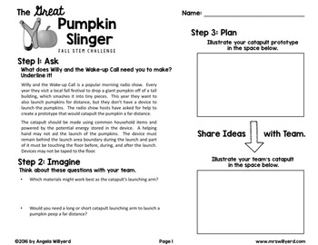 Fall STEM Challenge: The Great Pumpkin Slinger - SMART Notebook - Grades 3-5