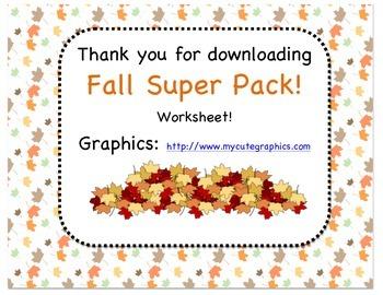 Fall SUPER Pack!