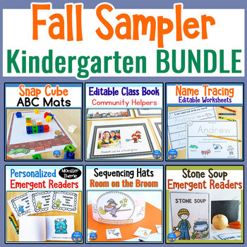 Fall Sampler Kindergarten BUNDLE