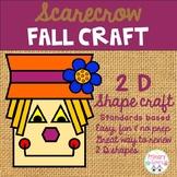 Fall Scarecrow 2 D Shape Craft