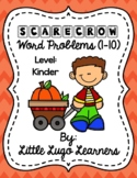 Fall Scarecrow Add/Subtract Word Problems 1-10
