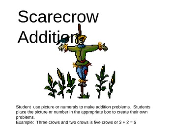 Fall Scarecrow Addition for Kindergarten
