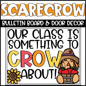 Fall Scarecrow Bulletin Board or Door Decoration