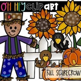 Fall Scarecrow Clip Art (Oh Hey ELA Art)