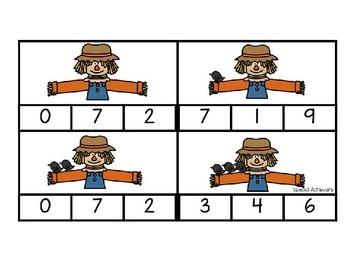 Fall Scarecrow Clip Cards