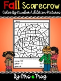 Fall Scarecrow Color By Number Addition Pictures