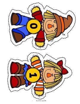 Fall Scarecrow Level 1 Bundle-Math Centers