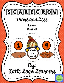 Fall Scarecrow More and Less-Comparisons