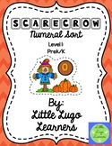Fall Scarecrow (Level 1) Numeral Sort