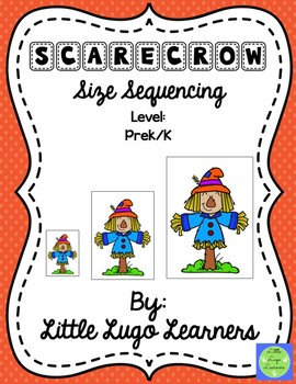 Fall Scarecrow (Comparisons) Size Sequencing
