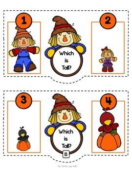 Fall Scarecrow Tall and Short-Comparisons