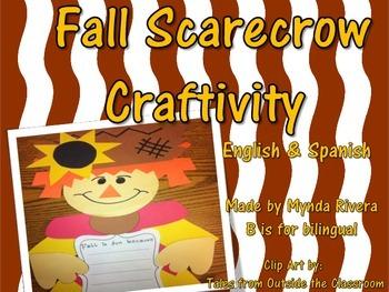 Fall Scarecrow Writing Craftivity (English & Spanish) by Mynda Rivera